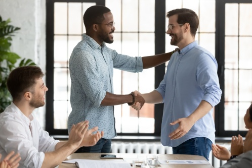 Two Men Agreeing on a Government IT Integration Partnership | Software AG Government Solutions