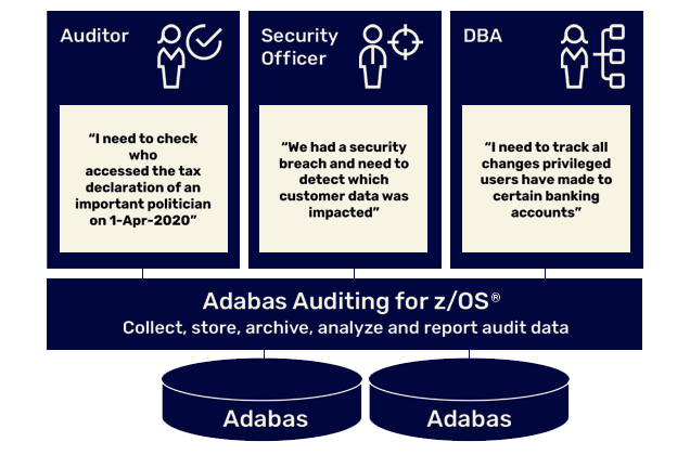 Adabas Auditing for z/OS Graphic | Software AG Government Solutions